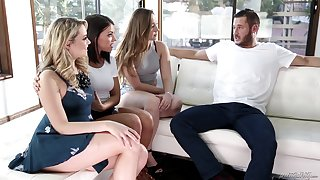 Group sex with Adriana Chechik and her very slutty girlfriends
