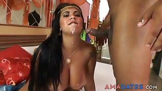 Amazing India milf rides a big dick