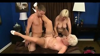 MMV FILMS Young increased by Old full-grown threesome